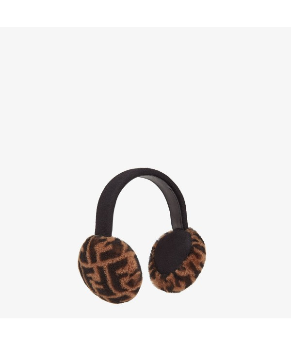 fendi shearling earmuff monogram
