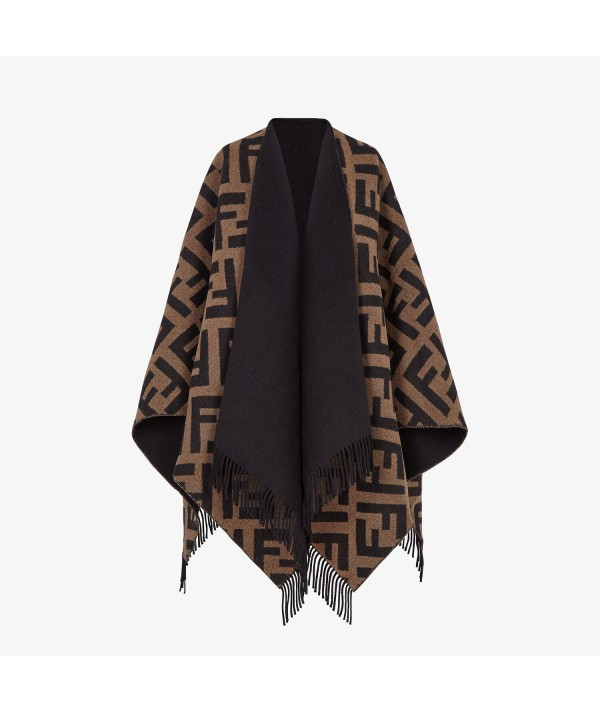 Cashmere and wool fendi poncho