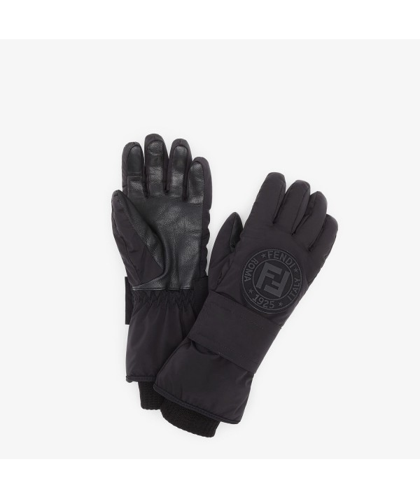 black fendi ski gloves