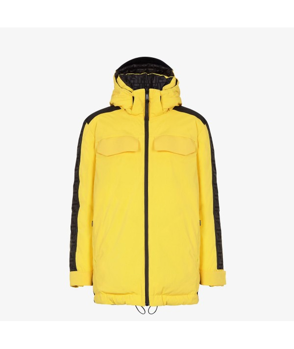 yellow reversible fendi ski jacket