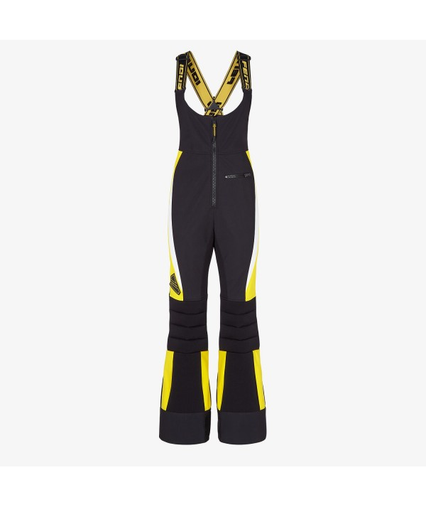 fendi ski salopette black and yellow