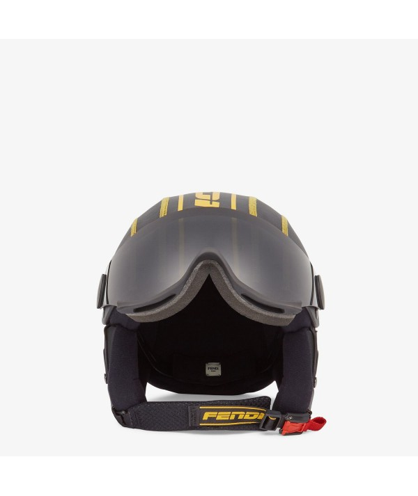 fendi ski black and yellow helmet
