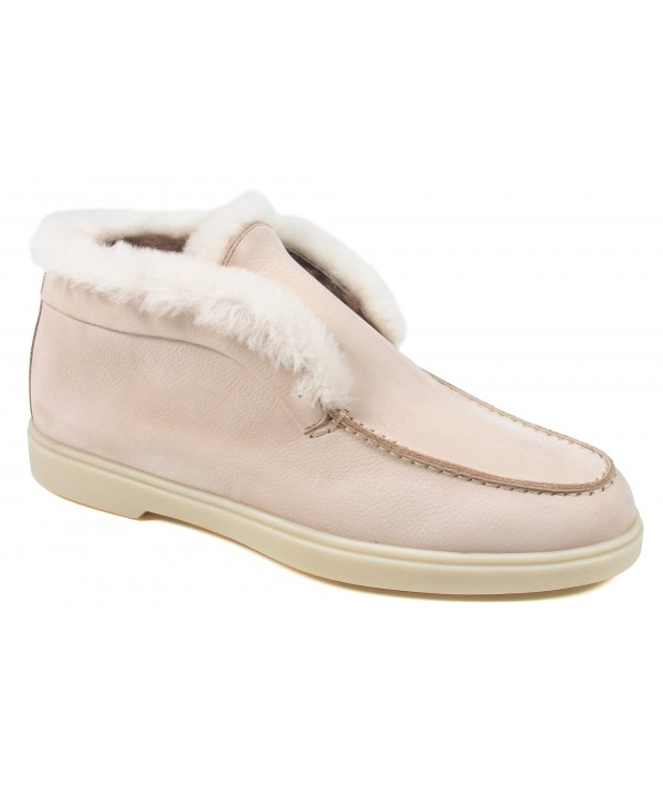 Beige Yalta Fur Boots