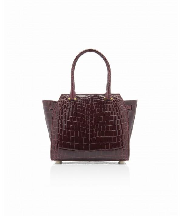 Croco Geometric Handbag
