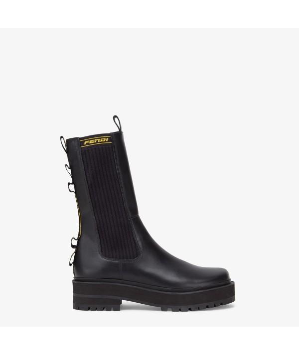 Black boots biker Fendi