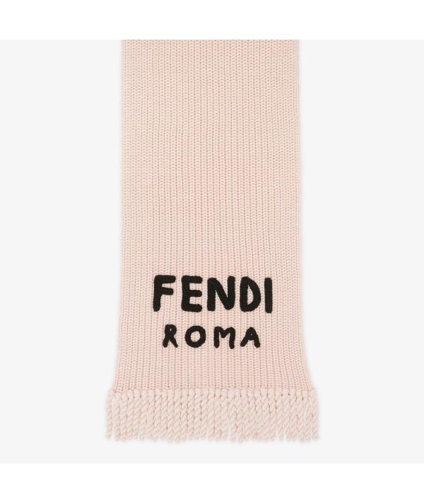 pink wool scarf fendi