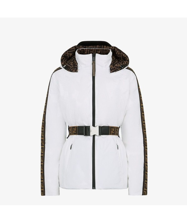 ski jacket fendi white