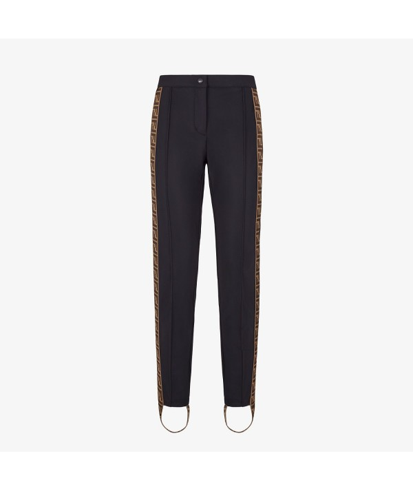 black Fendi stretch pant